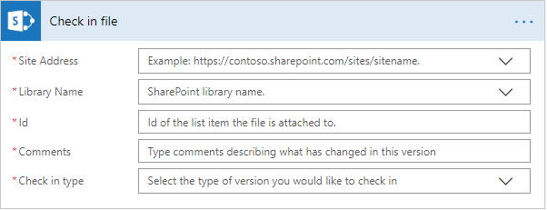 Microsoft Flow Check In File