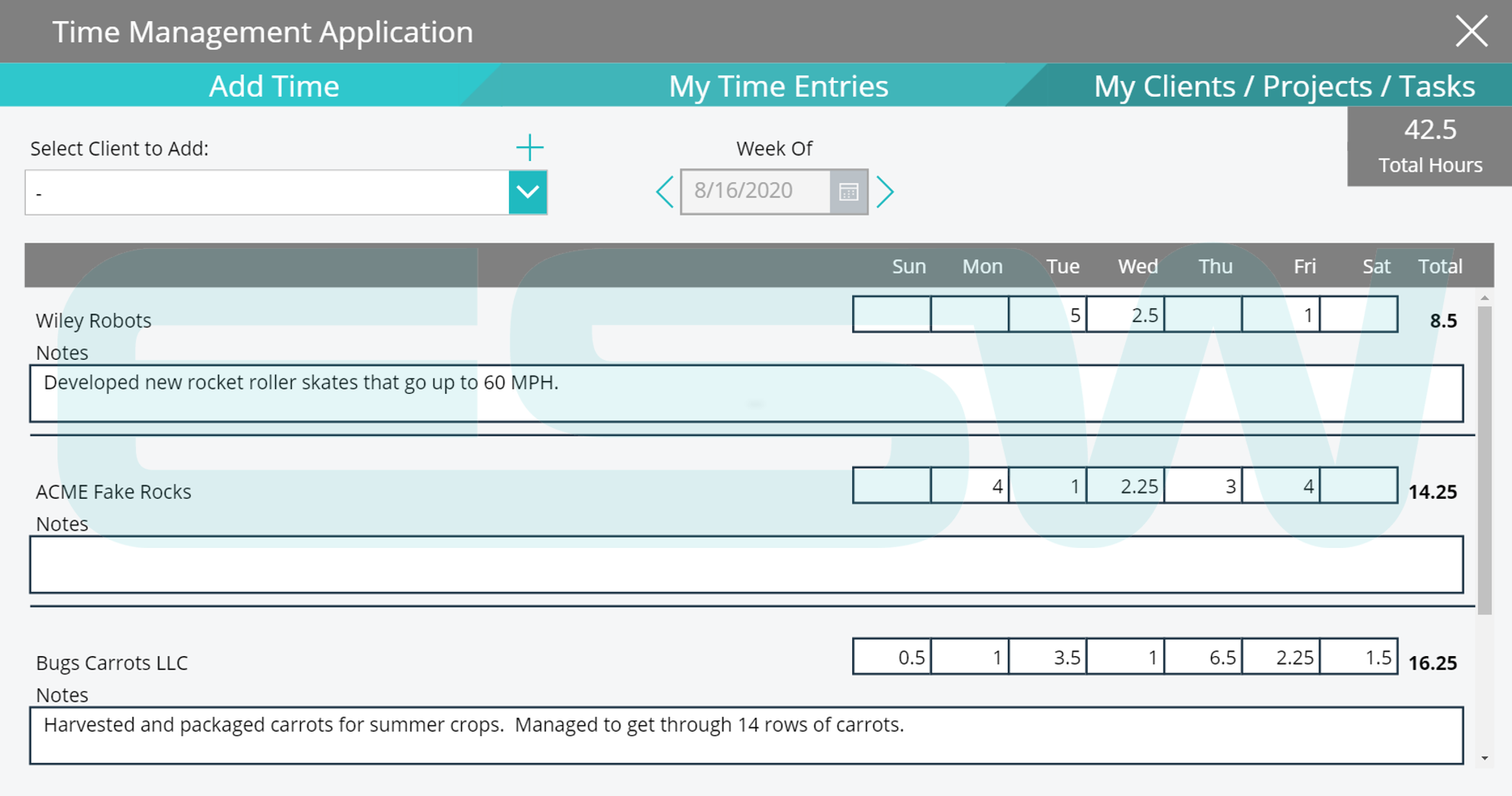 An example of Tracking Time with a Grid View in Microsoft Power Apps